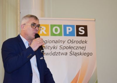 Pan Rafał Marek - Prezes Zarządu Regionu Śląskiego Stowarzyszenia Menadżerów i Organizatorów Pomocy Społecznej.